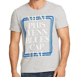 William Rast Memphis Graphic Tee T-Shirt Sz L NWT!